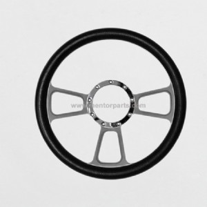 Car Steering Wheel with PVC Material with Aluminum Spoke